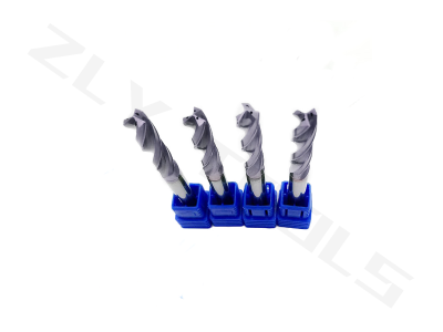 3F carbide twist drill bits with internal cooling self-centering TiAlN coating