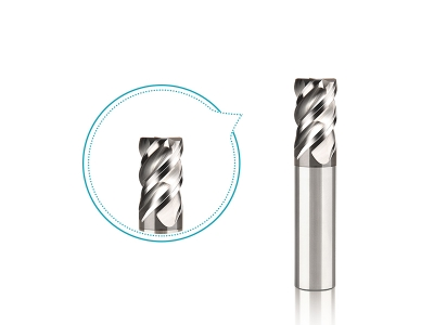 12mm R0.5 45deg high helix carbide coated corner radius end mill for metalworking finishing milling