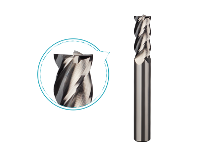 Groove polishing carbide end mill for aluminum milling 4 flutes,good surface