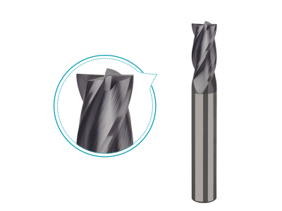 Carbide end mill for steel up to HRC45 milling, 4 flutes coated milling tools -PS214