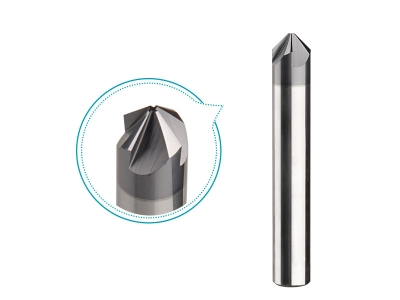 4flutes Angle milling cutter 10mm TiAlN coated carbide 90deg chamfering tool for stainless steel